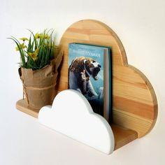 Shelf Cloud Floating shelf wood Wooden wall shelf Cloud | Etsy Toy Shelves, Nursery Shelves, Wooden Wall Shelves, Wooden Walls, Shelf Wall, Wall Wood, Monochrome Nursery, White Nursery, Girl Nursery