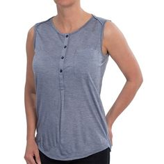 99ebf4235dff NAU M2 Henley Tank Top - Merino wool-TENCEL® (For Women)