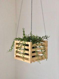 Plant Box, Diy Plant Stand, House Plants Decor, Plant Decor, Scrabble Tile Wall Art, Diy Crafts For Home Decor, Diy Wood Projects, Plant Projects, Hanging Planters