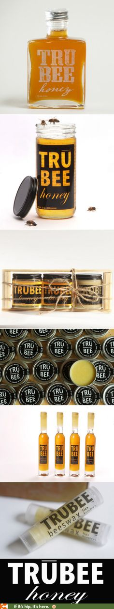 I love all the packaging for Trubee Honey products.