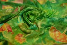 Summer umbrellas Design Silk Scarf Hand Painted.  от Korobeynitsa