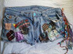Patchy Jean Shorts