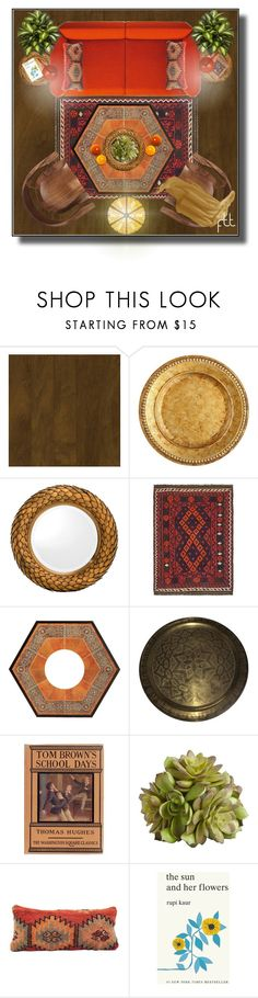 """""""In The Loft,  Looking Down"""" by fowlerteetee ❤ liked on Polyvore featuring interior, interiors, interior design, home, home decor, interior decorating, Armstrong, Pier 1 Imports, Eichholtz and Frontgate"""
