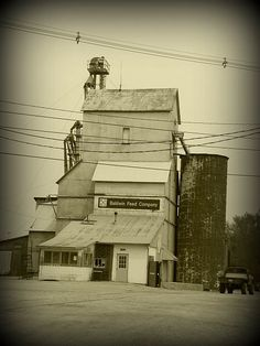 Baldwin Feed Company  -  Elevator in Baldwin City, Kansas.