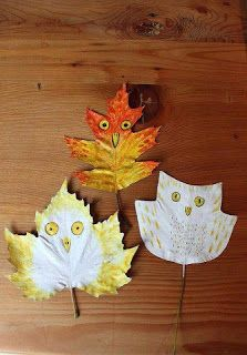 A series of art projects for children featuring the use of leaves.