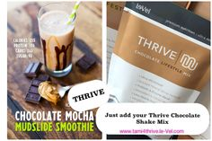 The THRIVE Experience is an premium lifestyle system, to help you experience peak physical and mental levels. 3 premium products taken every morning, that have changed millions of lives—THRIVE Experience. Thrive Shake Recipes, Protein Shake Recipes, Thrive Diet, Thrive Le Vel, Chocolate Shake, Chocolate Chips, Thrive Experience, Weight Loss Smoothies, Level Thrive