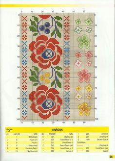 (3) Gallery.ru / Фото #21 - Keresztszemes №2(97)2015 - Sofochka-2014 Cross Stitch Floss, Cross Stitch Boards, Cross Stitch Patterns, Folk Embroidery, Cross Stitch Embroidery, Embroidery Patterns, Palestinian Embroidery, Loom Weaving, Cross Stitching