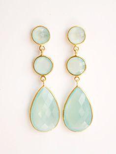 Mint Green Earrings. So pretty!