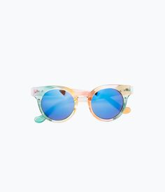 Round sunglasses with colored rims-View all-Accessories-WOMAN | ZARA United States