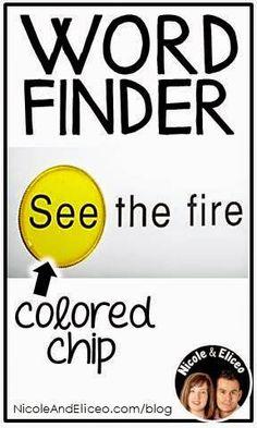 Reading Tip: Word Finder Chips