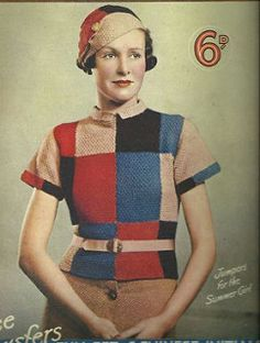 Your place to buy and sell all things handmade Vintage Knitting, Vintage Crochet, Mode Vintage, Vintage Ladies, Vintage Style, 1930s Fashion, Vintage Fashion, Vintage Dresses, Vintage Outfits