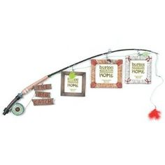 Fishing pole picture frame.