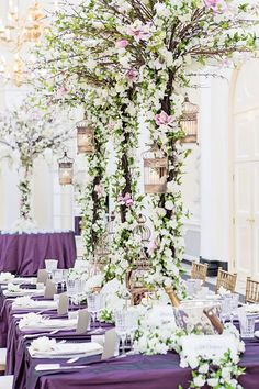 Essential Couture's amazing floral tree centrepieces