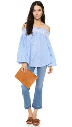 ENGLISH FACTORY Off The Shoulder Blouse