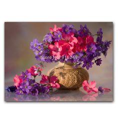 Livraison Gratuite Giclee Print Decoratiive Fleur Impression Sur Toile Encadré Fleur Peinture À L'huile Photo Imprimée Sur