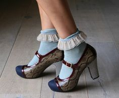 chie mihara mary janes. i could do without the anklets, but everything else is invigorating