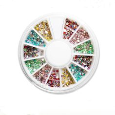 3d 2mm Mix Color Rhinestones for Nails Wheels New Year 2017 Fashion Fingernails  NP308