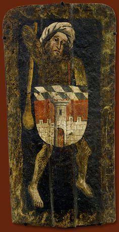 Setz-Tartsche um 1450 München, Bayerisches Nationalmuseum, Inv.-Nr. W 284 Verteidigungswaffe und ihre Bemalung: Ein wilder Mann