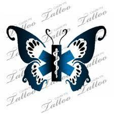 Female EMT Tattoos | Butterfly EMT tattoo | Tattoo Ideas