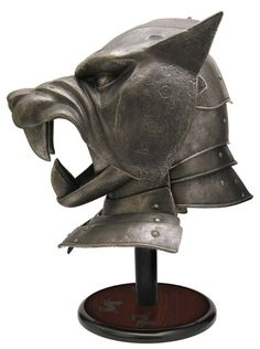 Game of Thrones - The Hounds Helm - The Game of Thrones® Collection is a series of collectible weapons and armor painstakingly recreated from the actual props used on HBO®'s hit fantasy epic Game of Thrones®. The officially licensed collectibles are made from the highest quality materials and have been crafted with special attention to reproduce the authentic details found on the props. #GlobalGear