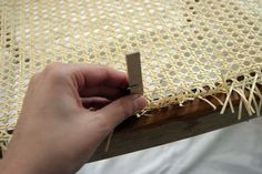 Re-caning a Chair Chair Redo, Chair Makeover, Diy Chair, Furniture Makeover, Furniture Repair, Diy Furniture, Chair Repair, Cane Back Chairs, Antique Chairs