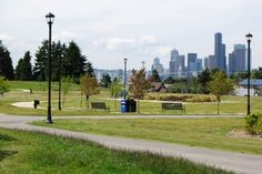 Jefferson Park, Seattle - this park is in the Beacon Hill area. Great view, nice features for kids, including a splash pad. Add some more shade trees and seating and it'd be perfect.