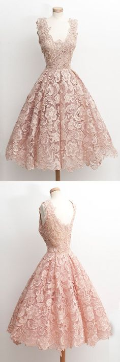 2017 short prom dresses,pink lace prom party dresses,short prom dresses,vintage dresses,vintage short party dresses,vintage fashion,cheap lace prom dresses