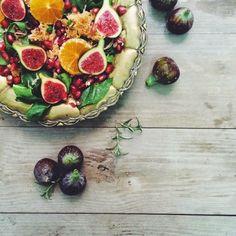 vegan salad,ensalada de otoño, receta vegana, fig salad, orange salad, vegan recipe, vegan ideas, vegan inspiration, homemade food, healthy food, food styling, vsco food styling, vsco foodphotography