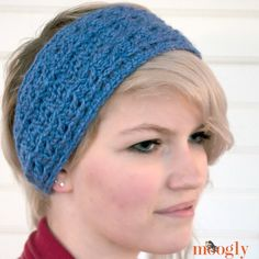 Make this Warm Cabled Headband/Ear Warmer with Lion Brand Heartland! Free crochet pattern by Moogly calls for less than one ball of yarn (pictured in kenai fjords) and a size I (5.5mm) crochet hook.