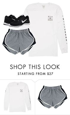 """""""Untitled #1030"""" by southernstruttin ❤ liked on Polyvore featuring Billabong and NIKE"""