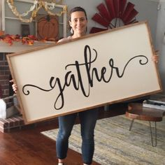 Gather sign #HavenDesignCo #WoodenSign #Gather #Windmill #FarmHouse #HomeDecor #Rustic