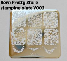NOTD: stamping with Y003 stamping plate from Born Pretty Store