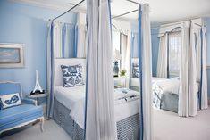 Blue Bedroom Ideas Pale Blue Bedrooms, Pale Blue Walls, Blue Gray Paint, Blue Paint Colors, Teal Walls, Guest Bedrooms, Master Bedrooms, Girls Bedroom, Green Curtains