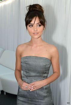 Jenna Coleman at the Glamour Women of the Year Awards, Red Carpet Hair, Fringe Hairstyles, Glamour, Ombre Hair Color, Hair Looks, New Hair, Hair Inspiration, Short Hair Styles, Hair Cuts