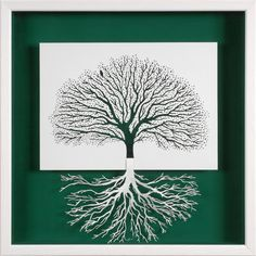 ROOTING - paper cut and paper sculpture - photographic reproduction art card. $7.00, via Etsy.
