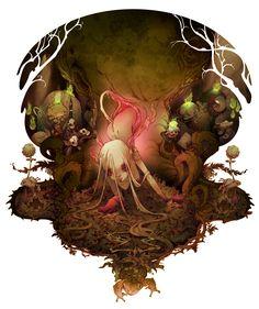 - Forest Fairy…( pencil art by Barbucci, colors by me )- j'aime beaucoup cette illustration, car j'avais pu utiliser toute...