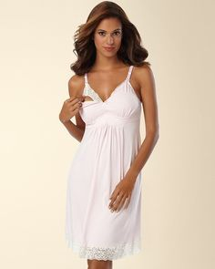 #mysomawishlist  Soma Intimates Belabumbum Nursing Sleep Chemise With Contrast Lace Pink #somaintimates