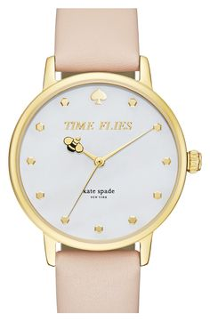 kate spade new york 'metro – honeybee' leather strap watch, available at – Men's style, accessories, mens fashion trends 2020 Kate Spade New York, Kate Spade Watch, Cute Watches, Casual Watches, Breitling, Fashion Watches, Fashion Accessories, Fashion Jewelry, Women's Fashion