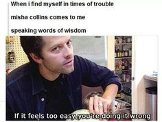 """Words of wisdom from Misha Collins on """"Cooking Fast and Fresh with West!"""""""