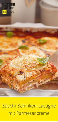 Recipe for zucchini ham lasagna with parmesan cream: www.kuechengoette … Recipe for zucchini ham lasagna with parmesan cream: www. Vegetable Soup Healthy, Healthy Soup, Healthy Dinner Recipes, Vegetarian Recipes, Crockpot Recipes, Soup Recipes, Diet Recipes, Chicken Recipes, Easy Cupcake Recipes