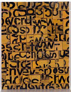 Honey Bee 1 (1992) -- by Rosalie Gascoigne. sawn / split soft drink crates on plywood 39.4 × 30.5cm