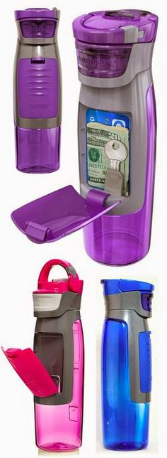 This is awesome :)Auto-seal kangaroo water bottle // has a storage compartment for keys, money and more. Perfect for working out, gym, yoga, running etc. Things To Buy, Good Things, Estilo Fitness, Sup Yoga, Workout Accessories, Fitness Accessories, Yoga Accessories, Iphone Accessories, I Work Out