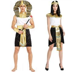 61feed23d6 Halloween Costume Couples Costumes Sexy Women Men Egyptian Pharaoh  Cleopatra Cos  fashion  clothing