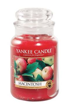 Yankee Candles..Love that i found this Macintosh APPLE one,I now live in the south and wanted to make an apple pie,so i went everywhere lookin for this kind of apple.Thats the only kind of apple my mom used to make hers.Needless to say i did't find any macintosh.People in the south look @ me like i'm crazy when i say there is such a thing.