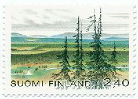 Urho Kekkosen kansallispuisto. Postimerkki 1988