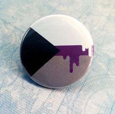 Button -  Demisexual Asexual LGBT Queer Pride Flag!