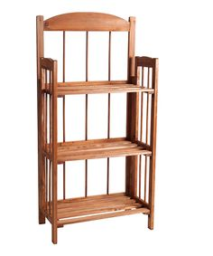 Look at this Light Wood Finish Lavish Home Three-Shelf Bookcase on #zulily today!