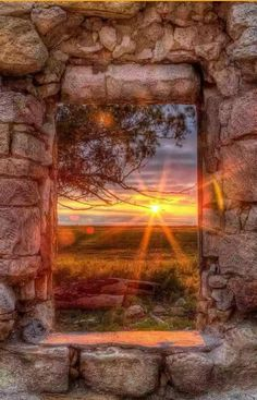 A beautiful view of sunset.