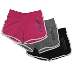 Panther shorts in pink, gray, or black. $23.99