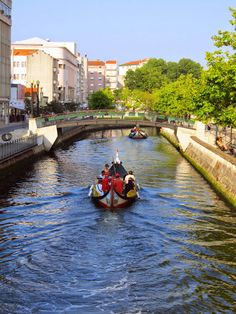 "#Aveiro, the portuguese Venice, with its ""moliceiros boats"", canals and bridges -  #Portugal"